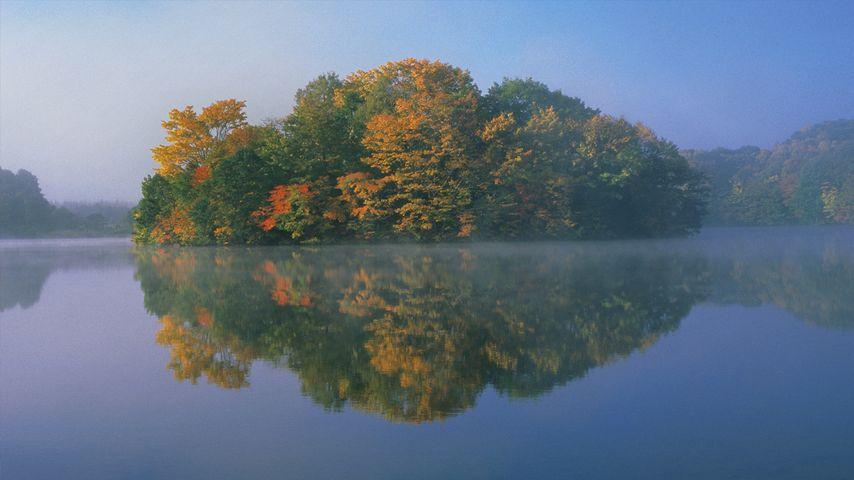 「曽原湖」福島県, 北塩原村