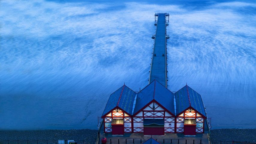 Saltburn Pier in Saltburn-by-the-Sea, Redcar and Cleveland