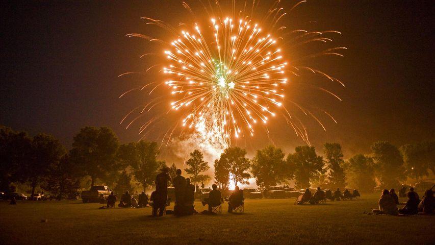 Fourth of July fireworks in Morton, Minnesota