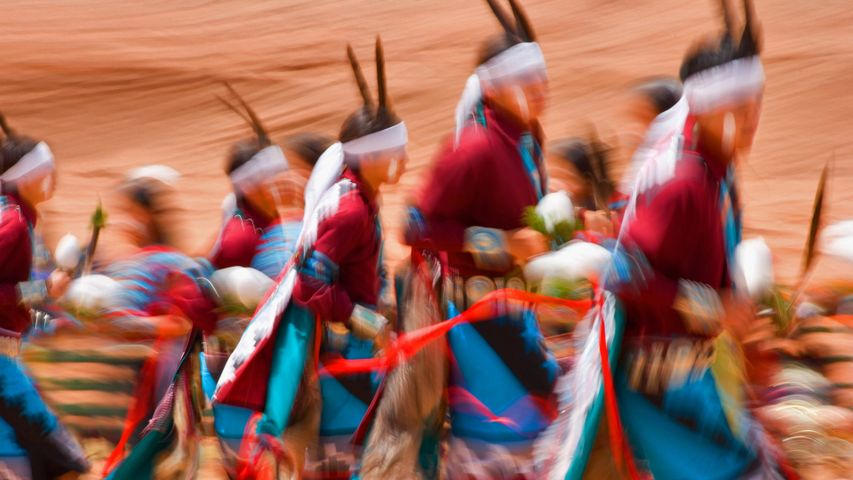 Dancing at the Gallup Inter-Tribal Indian Ceremonial in New Mexico