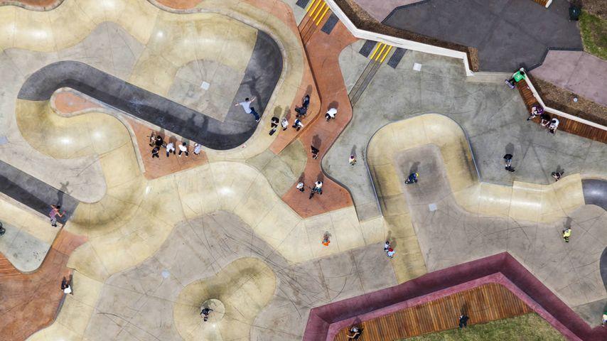 Skate park in St Kilda, Victoria, Australia