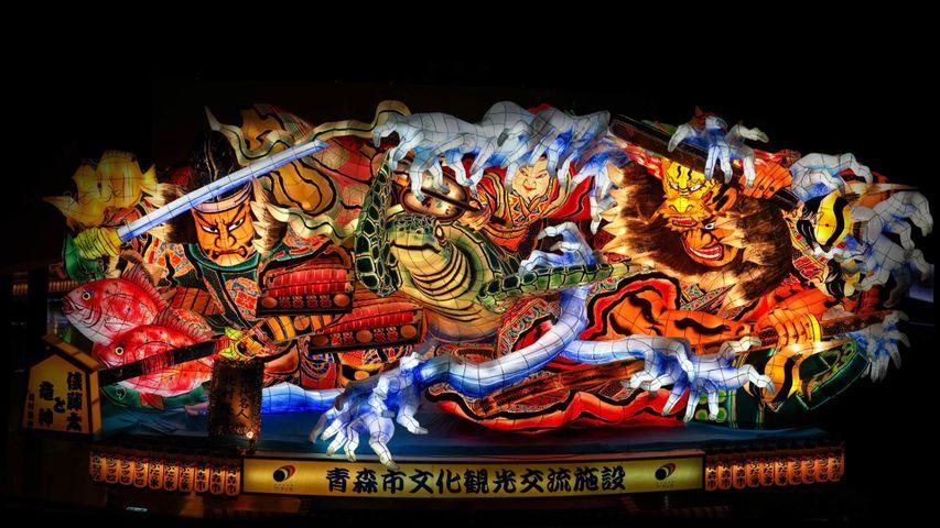 A float from the Aomori Nebuta festival parade in Aomori, Japan