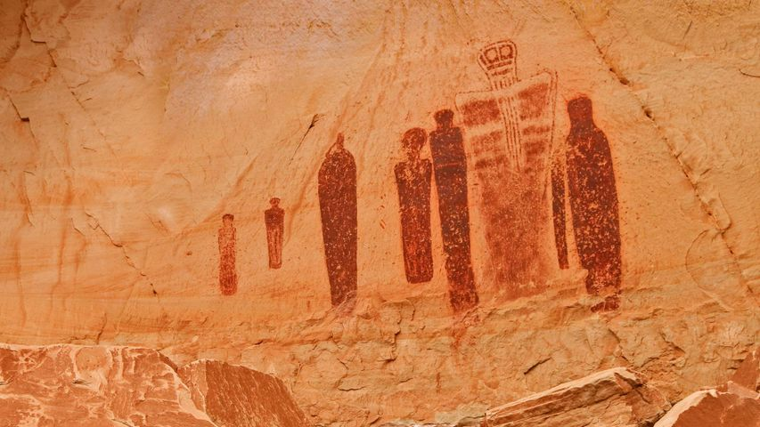 Rock art at the Great Gallery of Horseshoe Canyon, Canyonlands National Park, Utah, USA