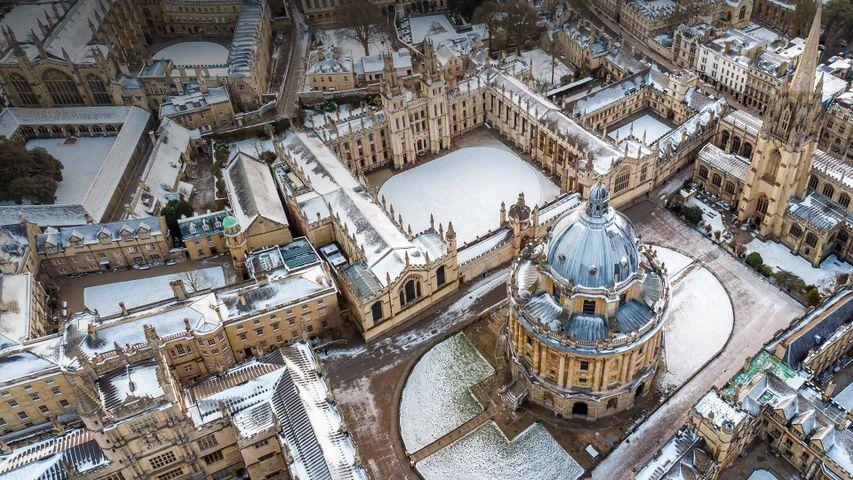 Luftbild des Zentrums von Oxford, England, Großbritannien