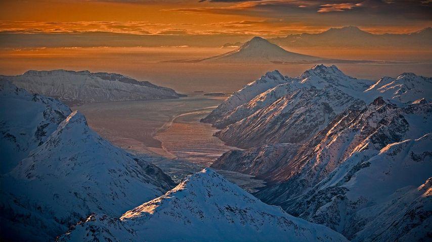「チグミット山脈」アメリカ, アラスカ