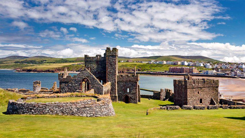 Peel Castle auf St Patrick's Isle, Isle of Man