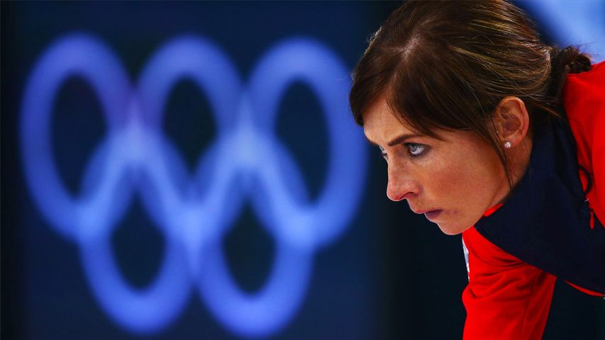 Eve Muirhead of Great Britain looks on during the Bronze medal match between Switzerland and Great Britain on day 13 of the Sochi 2014 Winter Olympics at Ice Cube Curling Center on February 20, 2014 in Sochi, Russia