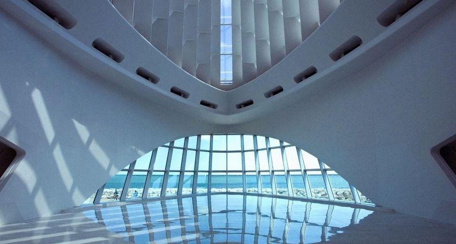 Interior view of the Milwaukee Art Museum in Milwaukee, Wisconsin