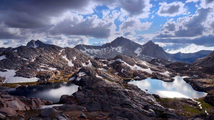 Bear Lakes Basin sur le sentier de randonnée Sierra High Route, Sierra Nevada, Californie, États-unis