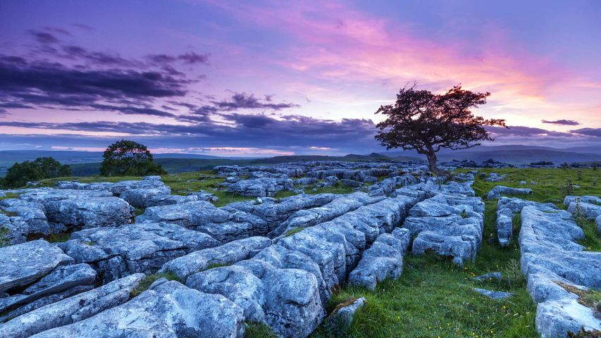 Sunset over Winskill Stones in the Yorkshire Dales National Park