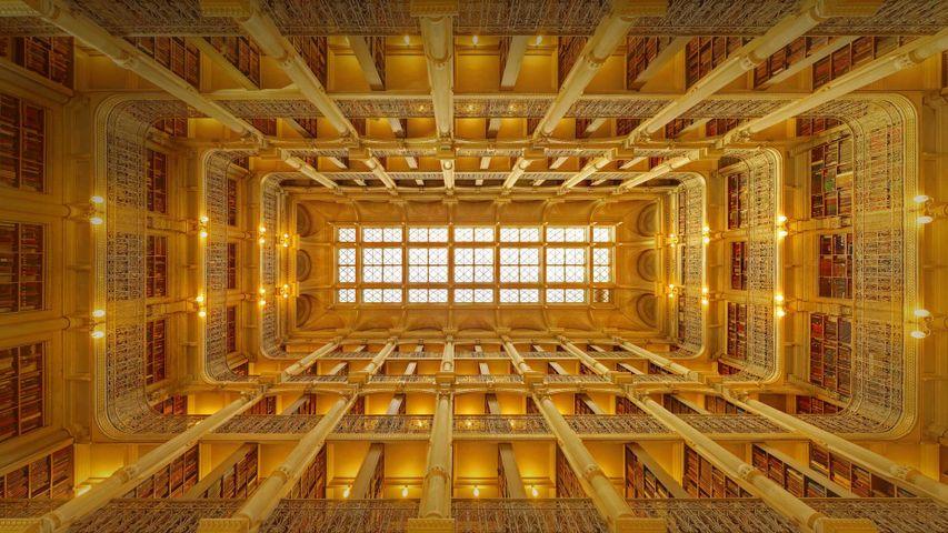 George-Peabody-Bibliothek, Baltimore, Maryland, USA