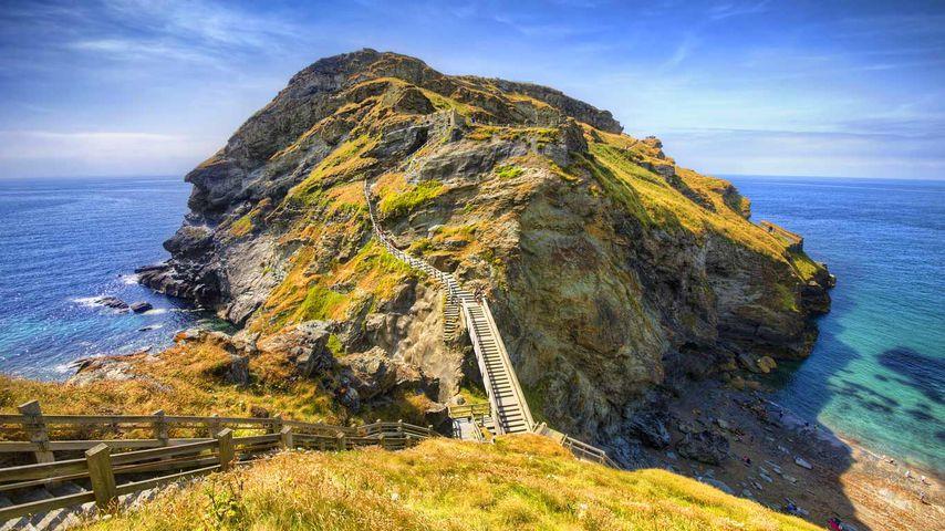 Tintagel on the Atlantic coast of Cornwall
