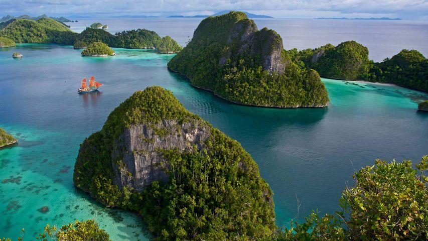 Wayag Islands in the Raja Ampat Islands of Indonesia