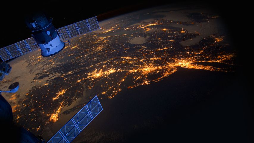The East Coast of the United States as seen from the International Space Station