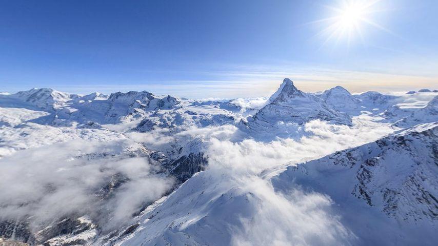 The Pennine Alps near Zermatt, Switzerland