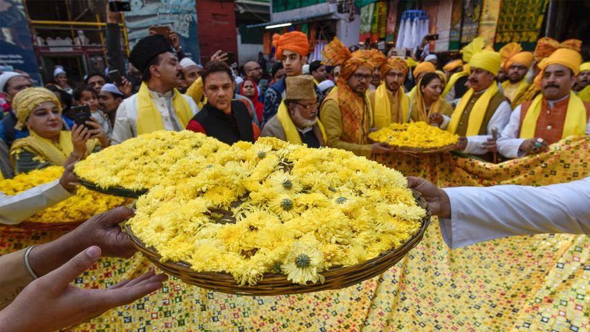 Nizamuddin Dargah embraces yellow to celebrate Basant Panchami.