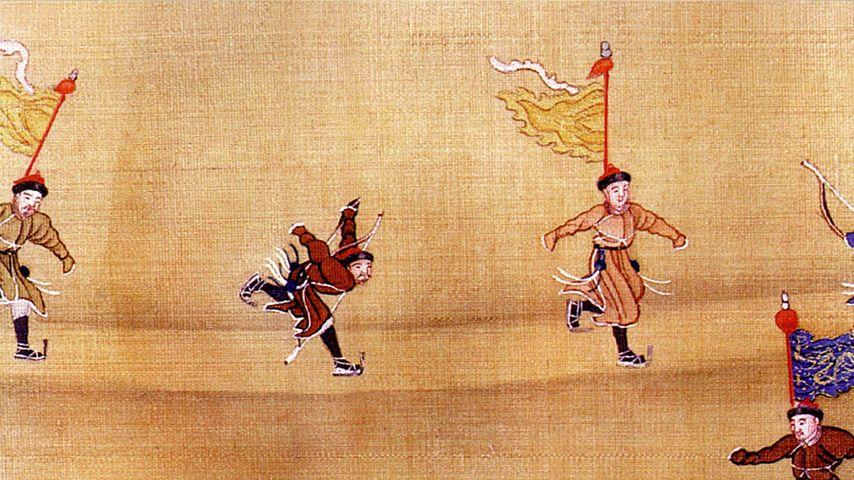 【今日冬至】中国古人滑冰图