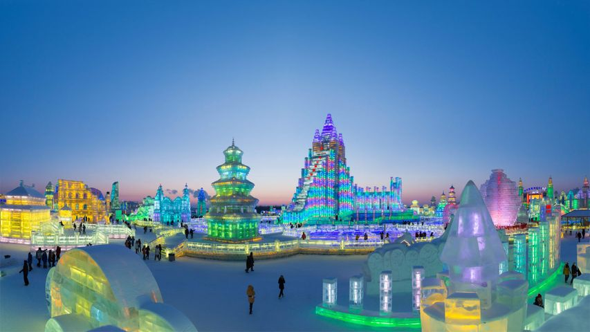 The Harbin Ice and Snow Festival in China