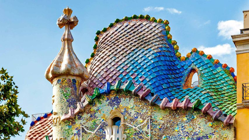 Casa Batlló in Barcelona, Catalonia, Spain