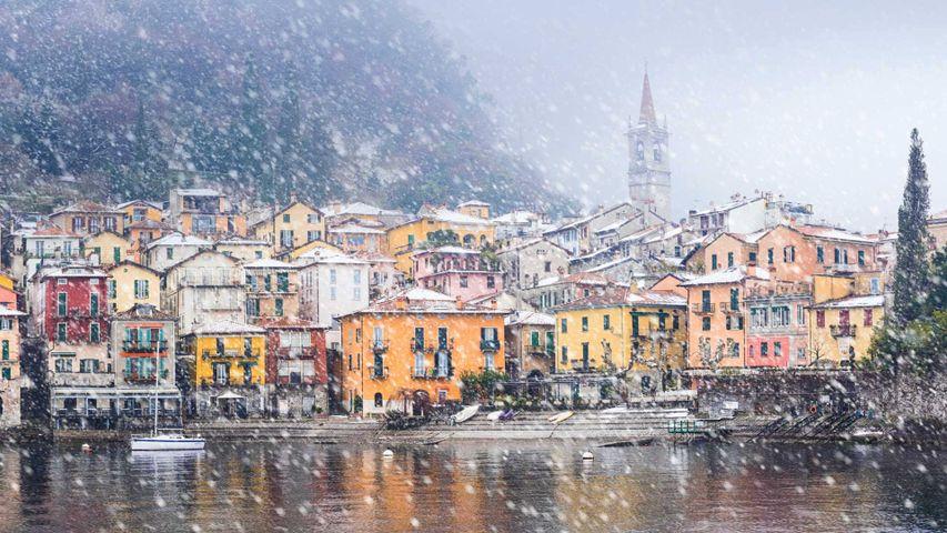 Varenna, Italy, on the shore of Lake Como
