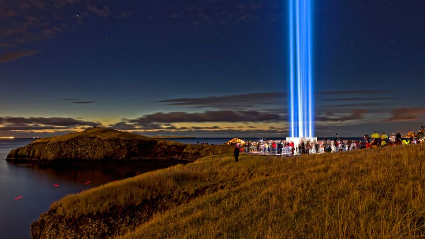 La Tour Imagine Peace, Ile de Viðey, Islande
