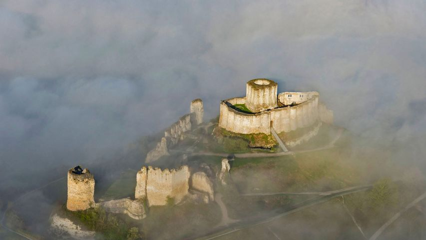 Château Gaillard, a 12th-century fortress in the Seine Valley, France
