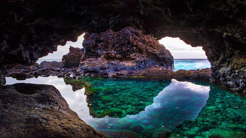 Cave on El Hierro Island, Canary Islands, Spain