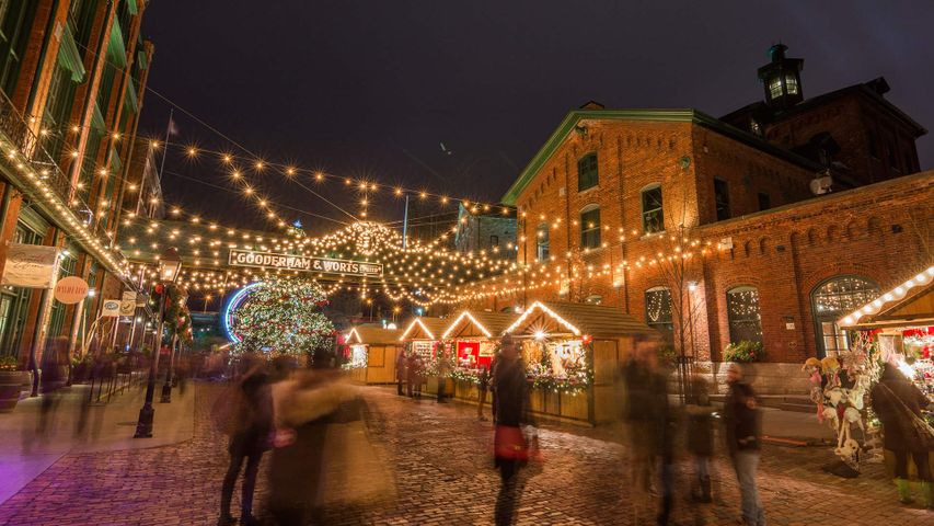 Toronto Christmas market at the Distillery District, Toronto