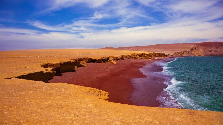 Playa Roja in Paracas National Reserve, Peru