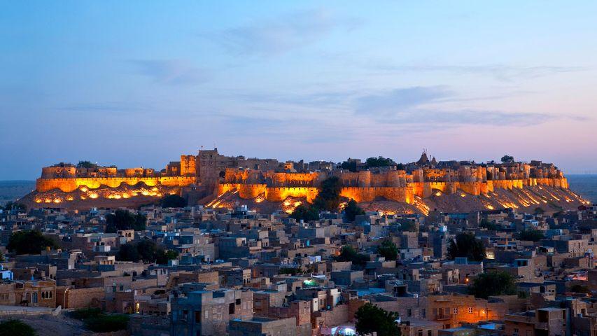 Jaisalmer Fort, Rajasthan at dusk.