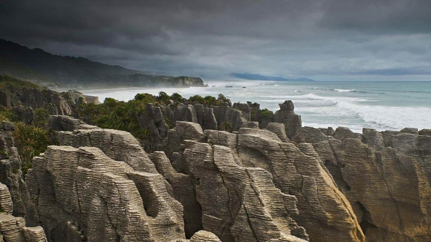 For Waitangi Day, the Pancake Rocks on New Zealand's South Island