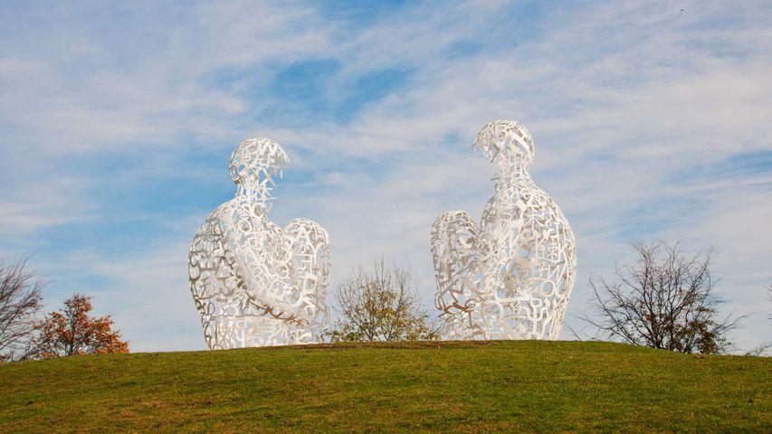 'Spiegel' by Jaume Plensa at Yorkshire Sculpture Park