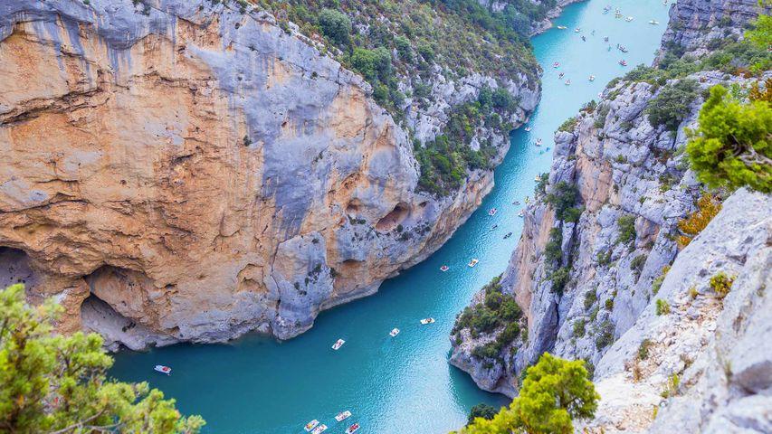 Le lac de Sainte-Croix, cours du Verdon, Provence-Alpes-Côte d'Azur, France