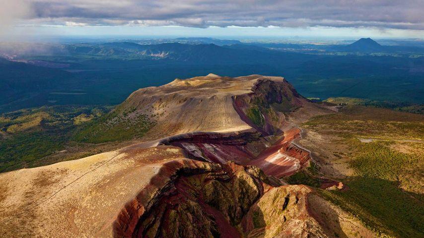 Mount Tarawera on the North Island, New Zealand