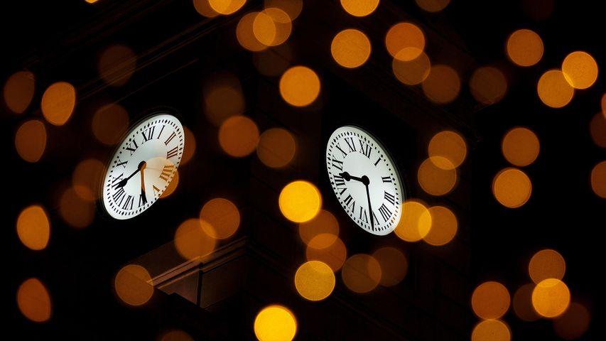 El reloj de Gobernación en la Puerta del Sol, Madrid