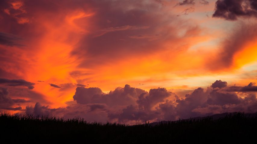 cloud sky sunset outdoor nature clouds orange landscape