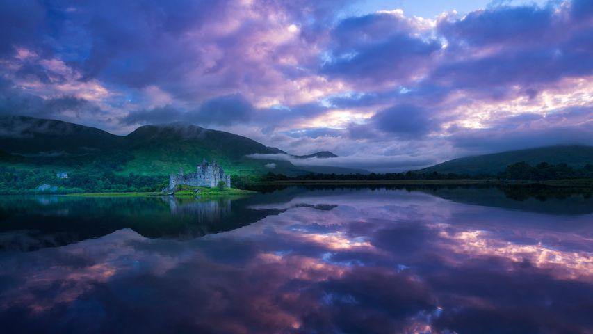 Kilchurn Castle in Scotland for St. Andrew's Day