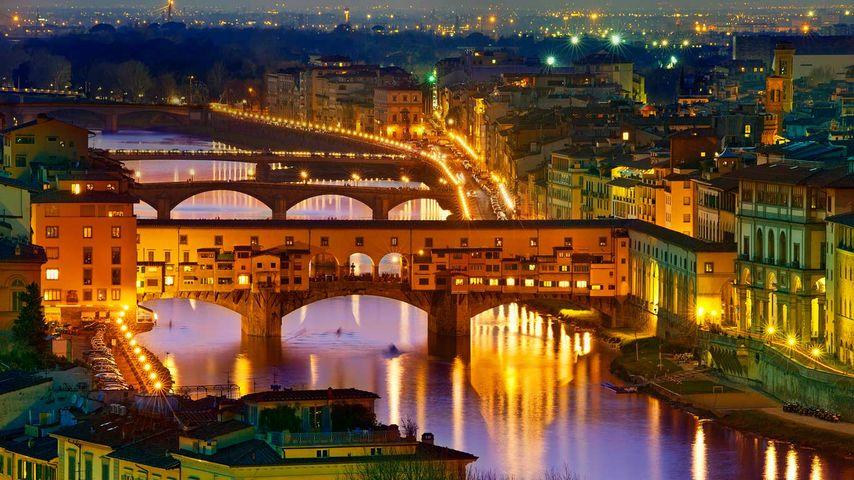 Ponte Vecchio, a bridge in Florence, Italy