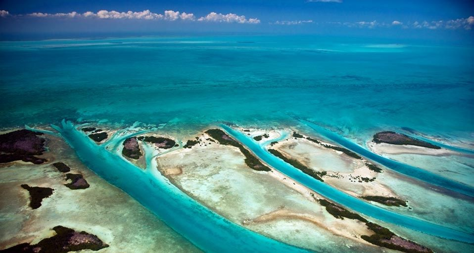 Aerial view of Ambergris Caye, Belize