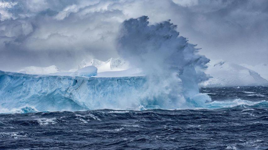 Iceberg flottant, Antarctique