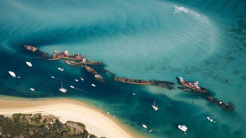 Shipwrecks at Moreton Island, Queensland