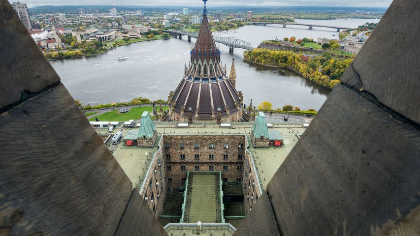 Aerial view from Peace Tower, Ottawa