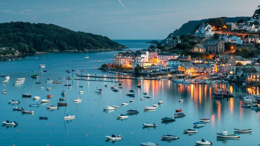 Port de Salcombe sur la côte sud du Devon, Angleterre