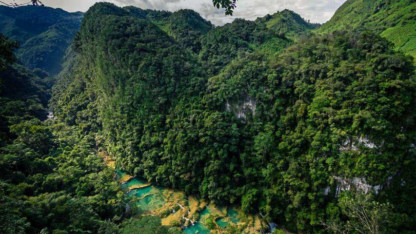 Naturschutzgebiet Semuc Champey in Guatemala