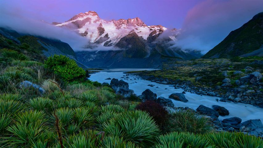 Mount Sefton in Aoraki/Mount Cook National Park, South Island, New Zealand