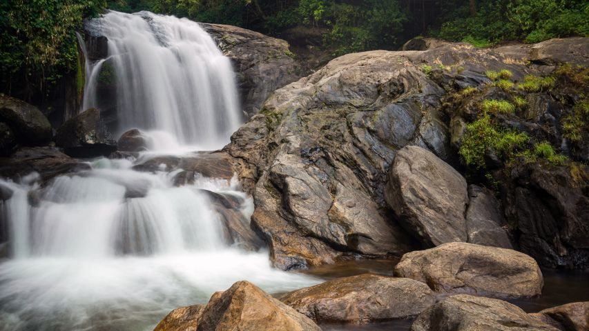 nature rock waterfall water outdoor river rocky mountain