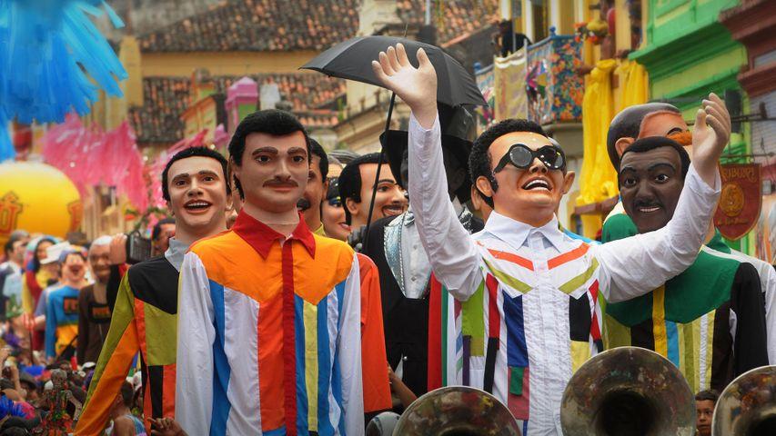 Giant puppets for Carnival in Olinda, Brazil
