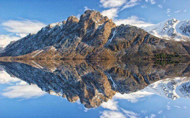 mountain sky lake landscape nature