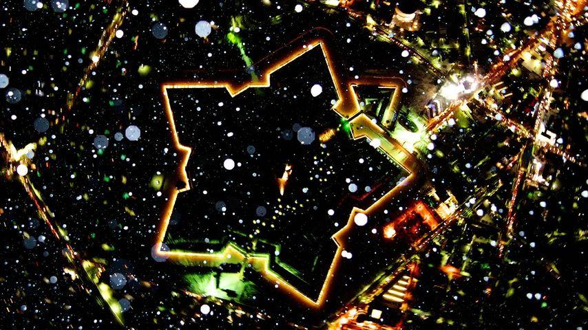 「夜の五稜郭」北海道, 函館市