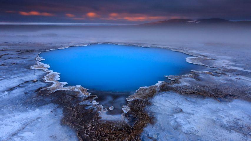 Hveravellir hot spring on Kjölur plateau, Iceland